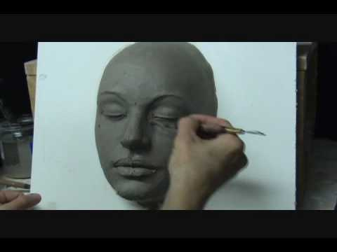 sculpting a female face in clay demo how to sculpt a face youtube
