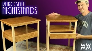 Easy to build retro style nightstands Plans for this project: ...