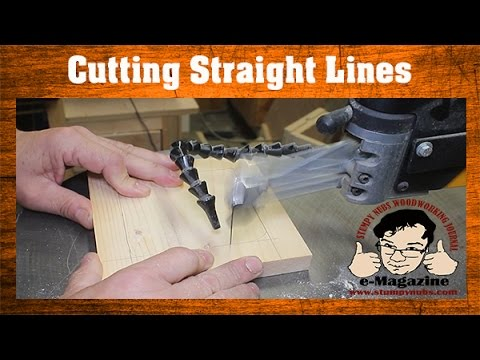 Scroll Saw Lesson #1- How to cut straight lines effectively (Mustache Mike)