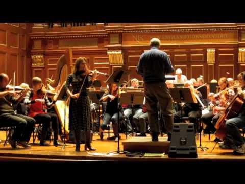 Thomas Oboe Lee: Irina Muresanu and Boston Civic Symphony rehearsal in Jordan Hall