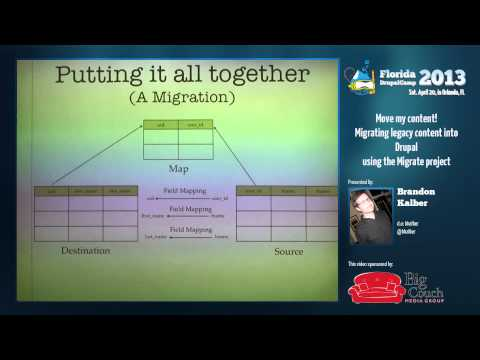 FLDrupalCamp2013 - Move my content! - Migrating legacy content into Drupal using the Migrate project