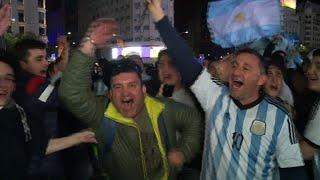 Foot: Match haut en émotions pour les supporteurs de l'Argentine