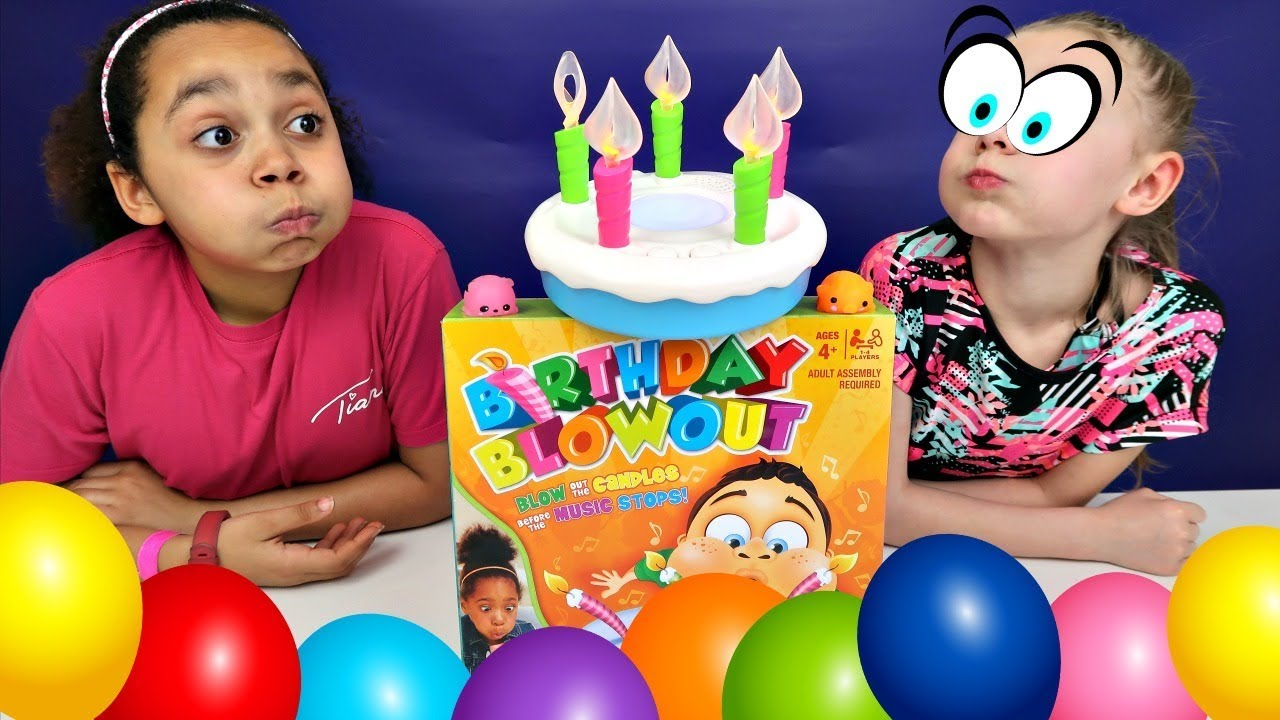 Birthday Cake Blowout Toy Challenge Game Surprise Toys