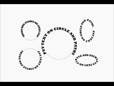 Inkscape - text in or on a circle