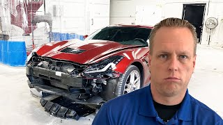Can't fix Corvette after Carmax test drive CRASHED into it.
