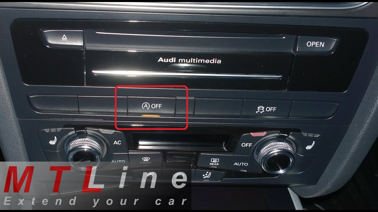 Audi A4 B8 My2012 Start Stop Memory Function Activation