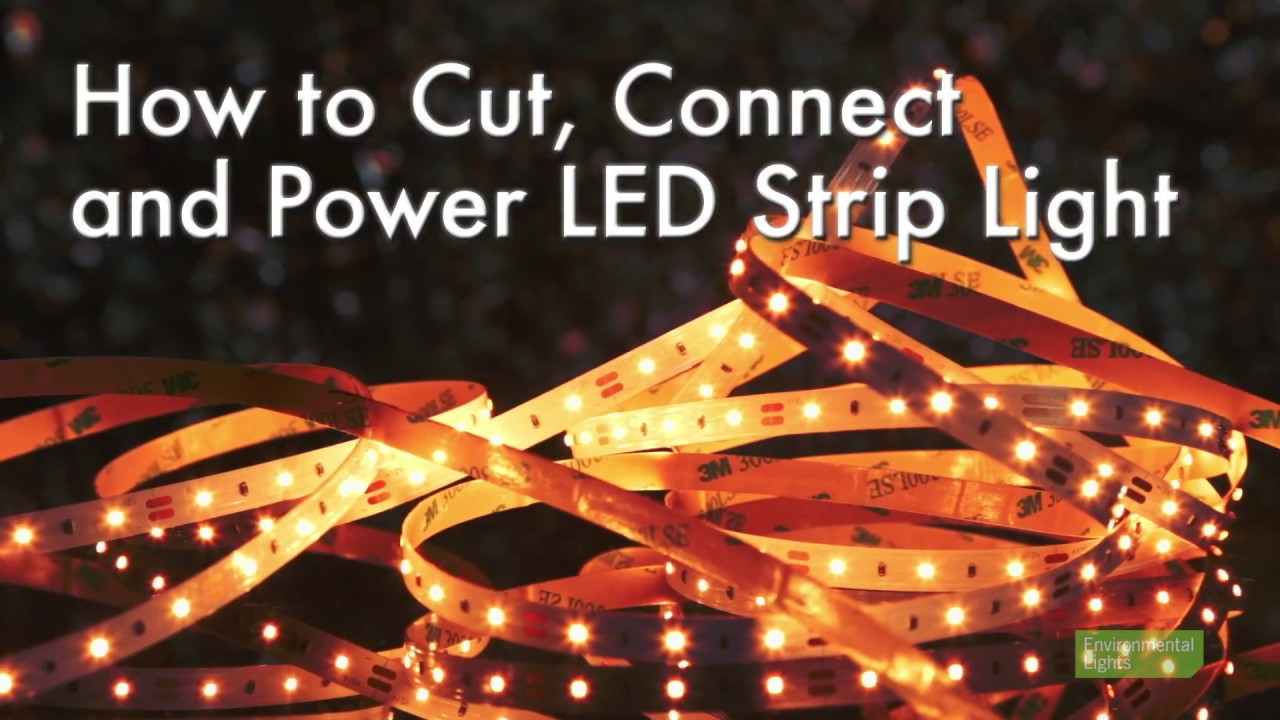How to cut connect and power led strip lights youtube how to cut connect and power led strip lights aloadofball Images