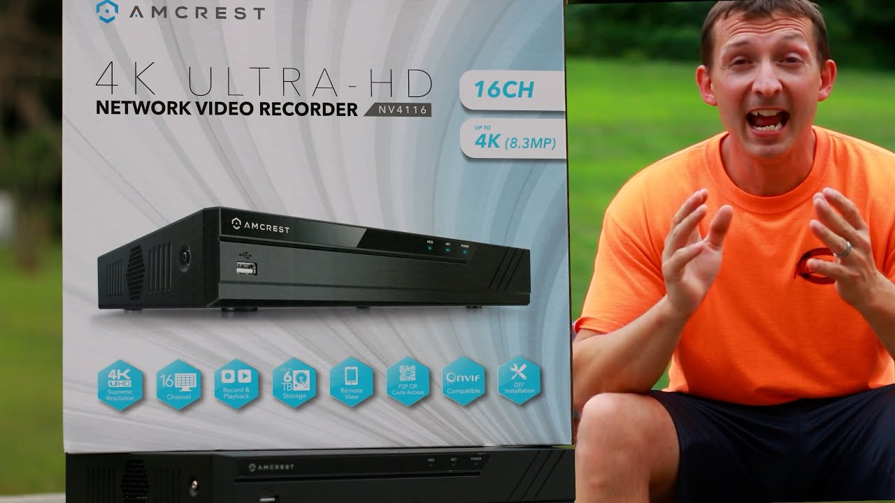 Amcrest NV4116-HS NVR Unboxing and specs! Home Security! - YouTube