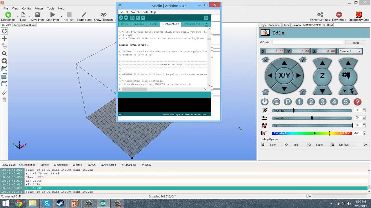 3D Printer Tutorial - PID Autotune Thermistor