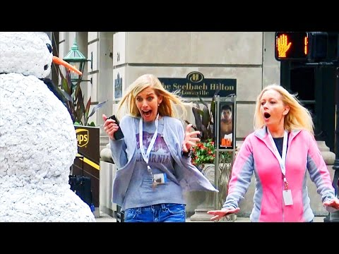 Scary Snowman Hidden Camera Practical Joke Louisville Kentucky (2016) Episode 3