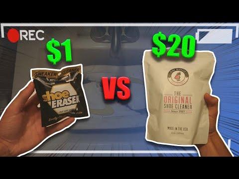 $1 Sneaker Cleaner VS $20 Sneaker Cleaner��‼️