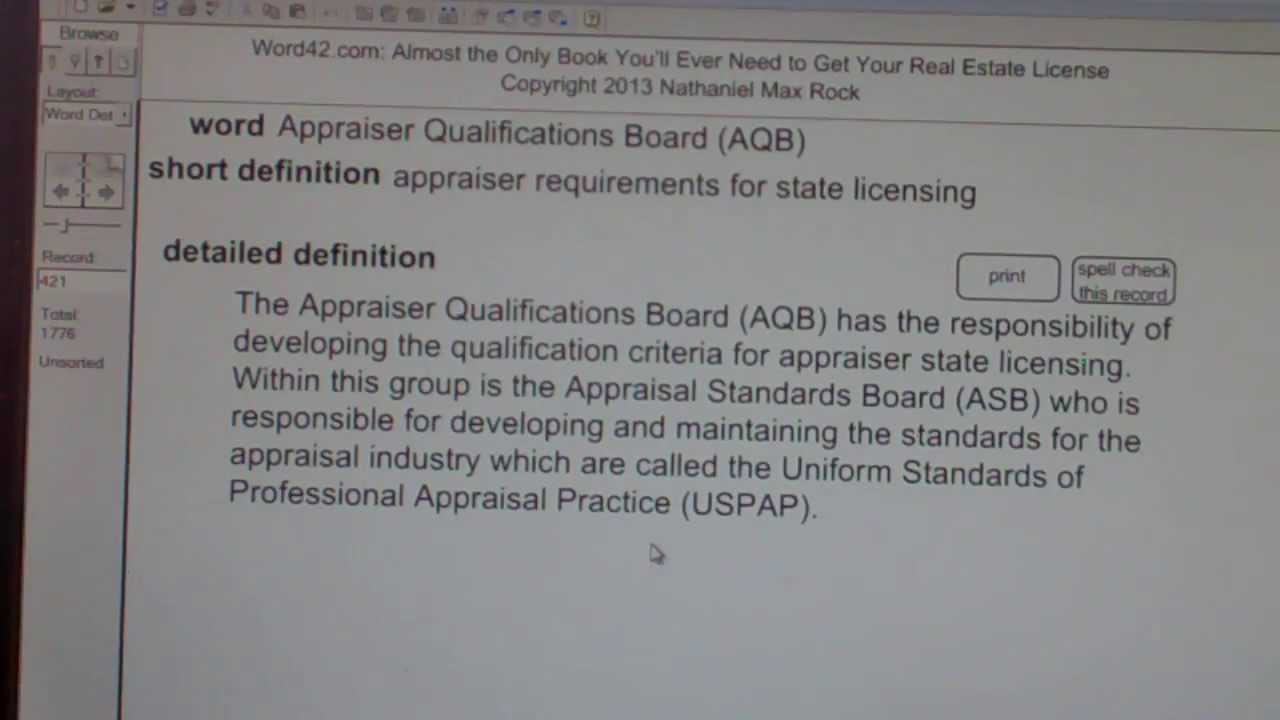 Appraiser Qualifications Board (AQB) CA Real Estate License Exam Top ...