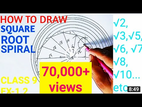 How To Draw Square Root Spiral | YouTube Video | Mks Mathematics