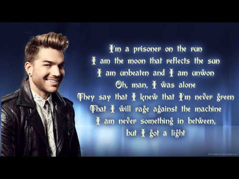 Adam Lambert - The Light (lyrics)
