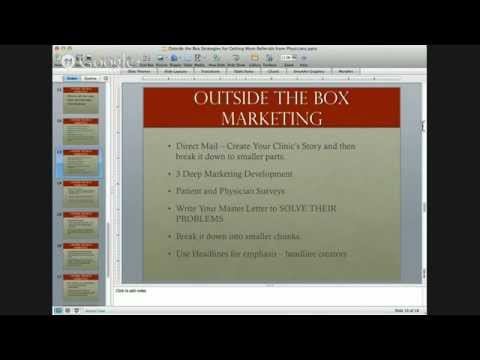 Outside of the Box Strategies for Attracting More Referrals from MD's