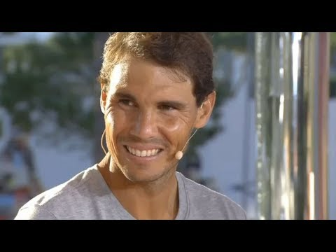Rafael Nadal Interview at the studio of Sky Sport Italy afte