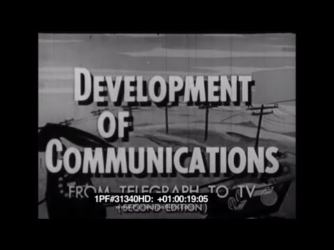 Development of Communications From Telegraph To TV Second Edition 31340 HD