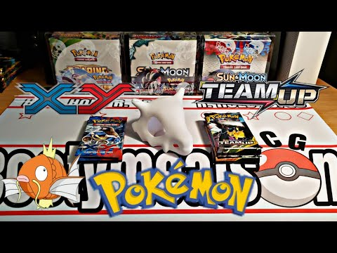 Pokemon Team Up Booster Pack Opening! Plus XY base set!