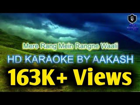 Mere Rang Me HD KARAOKE By Aakash