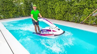 I RODE A JET SKI IN MY POOL!!