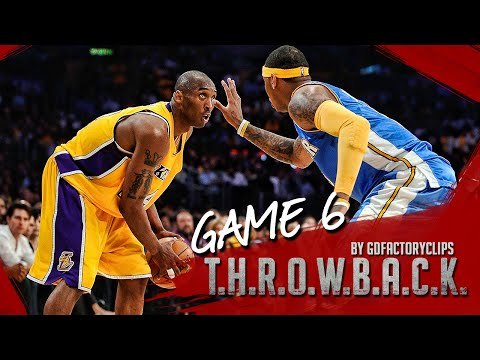 Throwback: Kobe Bryant vs Carmelo Anthony Full Duel Highlights 2009 WCF G6 Lakers at Nuggets - SICK!
