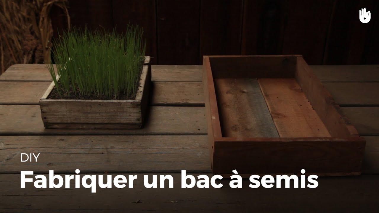 fabriquer un bac semis youtube. Black Bedroom Furniture Sets. Home Design Ideas