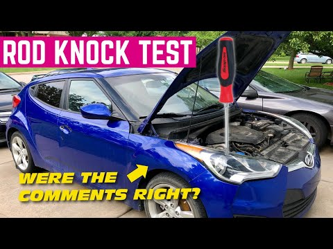 Using A SCREWDRIVER To Test For ROD KNOCK On The $1,500 Hyundai Veloster