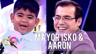Mayor Isko meets six-year-old aspiring mayor, Aaron Sunga | GGV