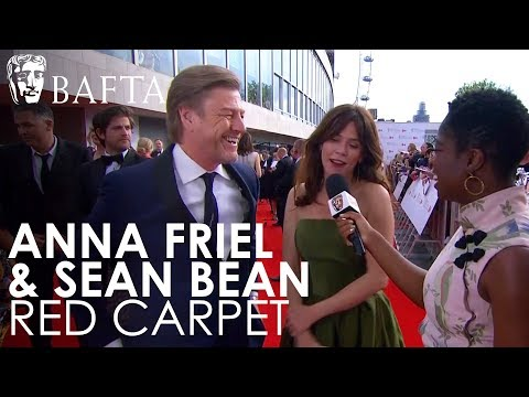 Sean Bean & Anna Friel on the Red Carpet  BAFTA TV Awards 2018