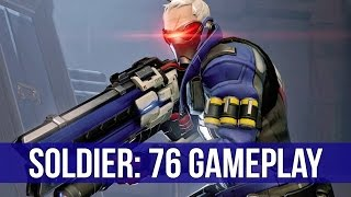 Overwatch Beta: Soldier: 76 Gameplay!