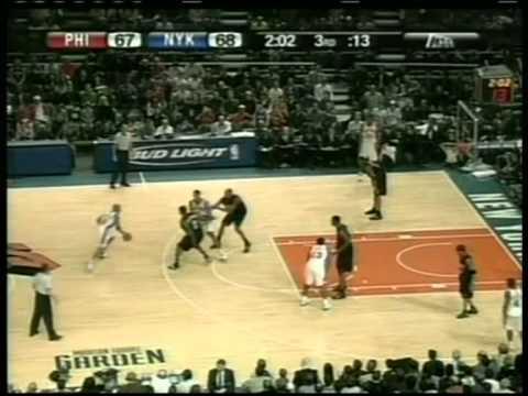 Stephon Marbury 33 pts vs Allen Iverson 40 pts, season 2006 knicks vs 76ers