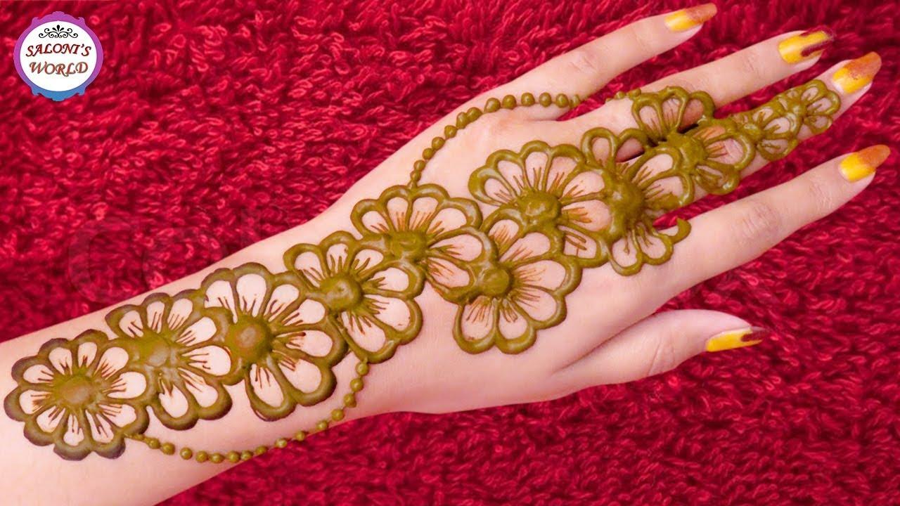 Unique Floral Mehndi Designs For Hands Latest Arabic Henna Designs