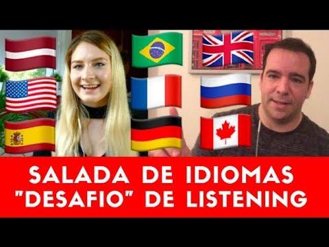 Salada De Idiomas: Desafio de Listening Lina Vasquez & Gabriel Poliglota