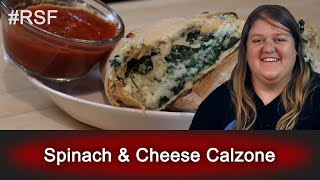 Spinach & Cheese Calzone - Ready, Set, Flambé: Remix