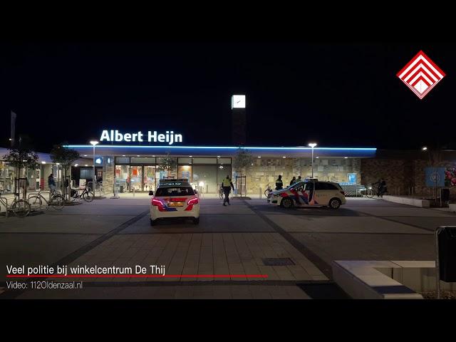 Veel politie bij winkelcentrum De Thij