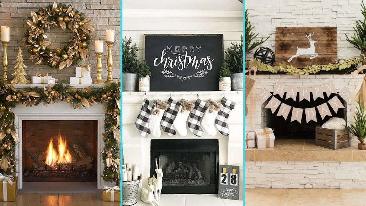 Charming DIY Shabby Chic Style Christmas Mantle Decor Ideas❤ | Christmas Fireplace  Decor | Flamingo Mango|