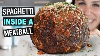 SPAGHETTI INSIDE A MEATBALL RECIPE