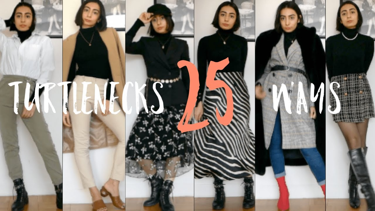 [VIDEO] - 25 WAYS TO WEAR TURTLENECKS | Summer to Fall Transition Outfits 1