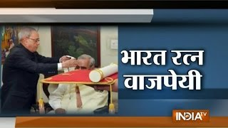Former PM Atal Bihari Vajpayee Awarded Bharat Ratna - India TV