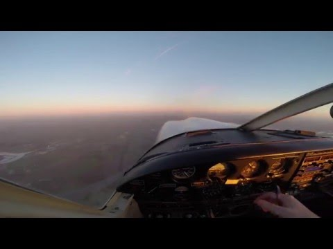 Gamston - PA28R - Sunset Skegness with ATC