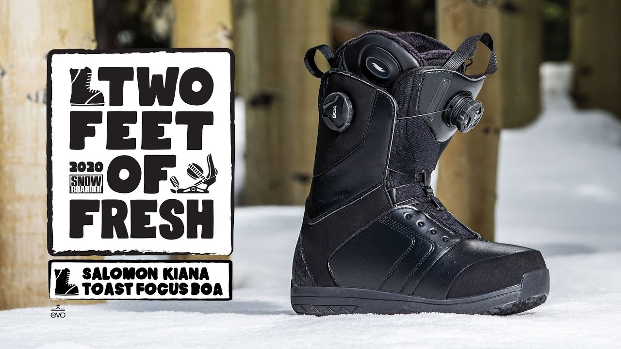 7.0 Salomon Snowboards Kiana Toast Focus Boa Snowboard Boot Womens Black