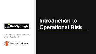 Introduction to Operational Risk Course