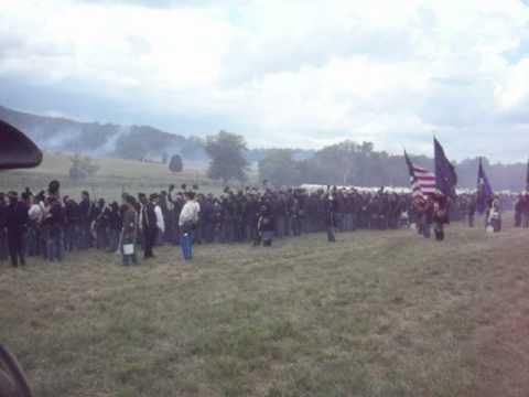 Union troops chanting Fredericksburg