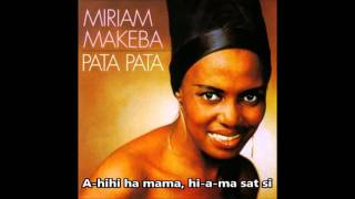 Miriam Makeba - Pata Pata (Letra/Lyrics)