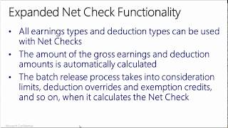 How to use the improved Payroll Net Check feature in Microsoft Dynamics SL 2015