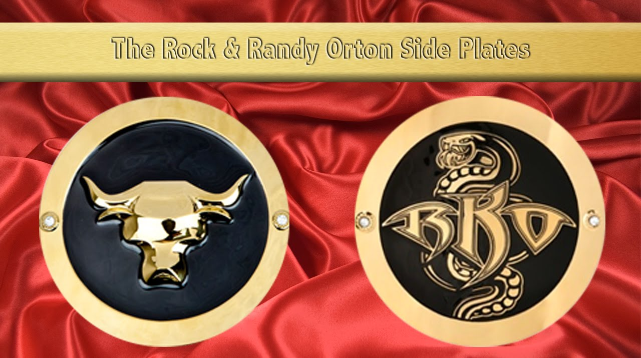 Randy Orton And The Rock Side Plates For The 2 Newest Wwe