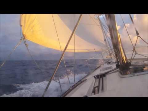 Sunrise day 6 Maui to Victoria 2016 ION Beneteau 43