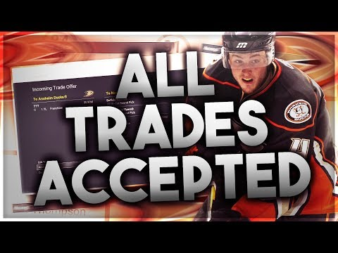 ACCEPTING ALL TRADES WITH THE ANAHEIM DUCKS! (NHL 17 FRANCHISE MODE CHALLENGE)