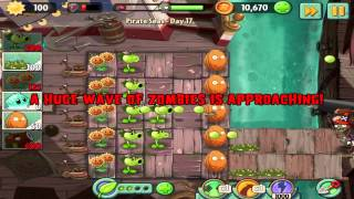 Plants vs Zombies 2 : Pirate Seas Day 17 Walkthrough