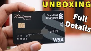 Standard Chartered Patinum Rewards Credit Card Unboxing | full details & how to apply